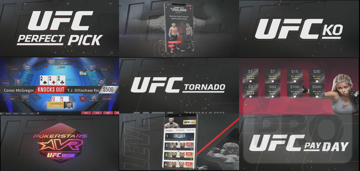 UFC KO looks like a straight rebranding of Knockout Poker. UFC Tornado could be a new name for Spin and Gos, extending the UFC theme.
