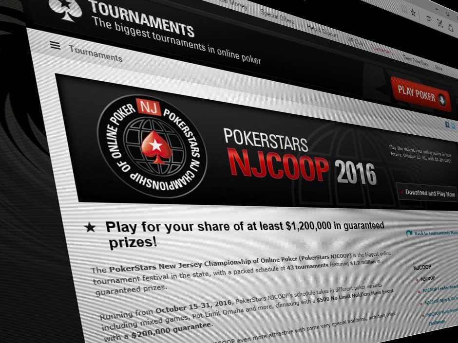 "PokerStars has finally released the schedule for NJCOOP, its major fall online poker tournament series in New Jersey, continuing the one-upmanship between PokerStars and Borgata/partypoker to claim the ""largest ever"" online poker tournament in the state."