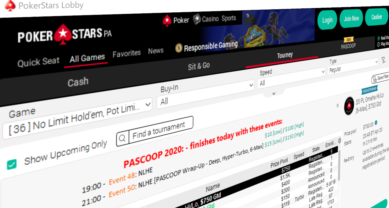 PASCOOP Smashes Guarantees, PokerStars PA Awards Over $3 Million