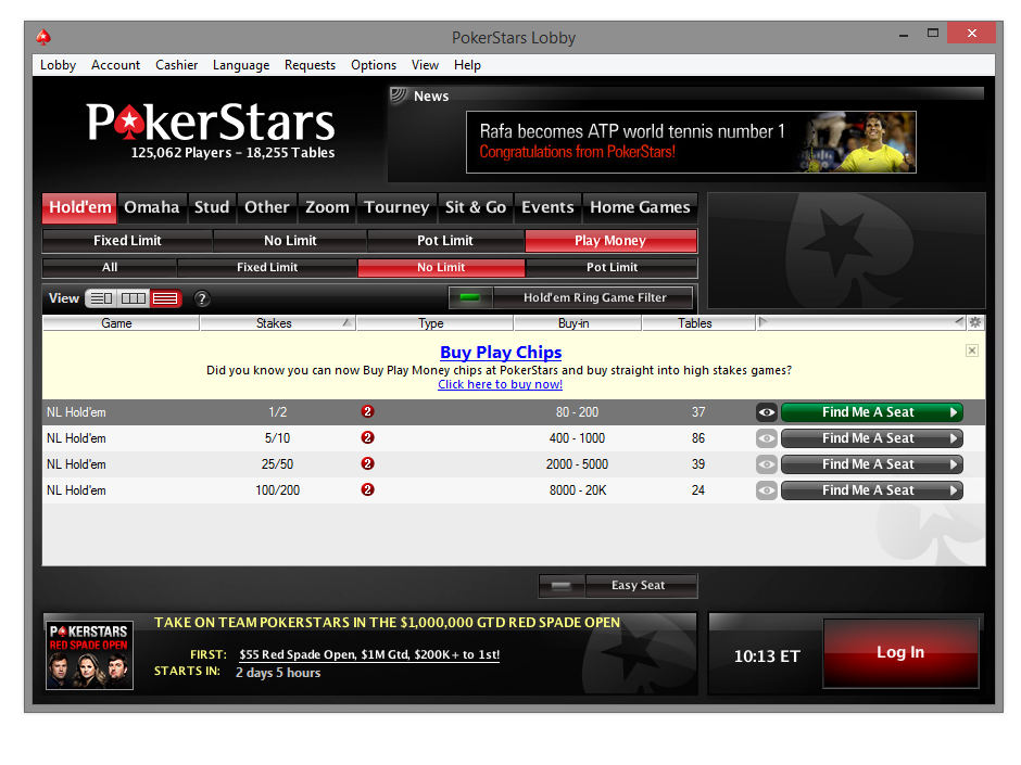 Pokerstars Real Money