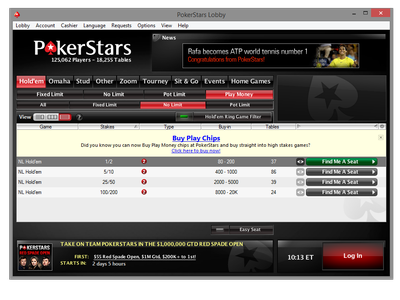 purchase pokerstars play chips