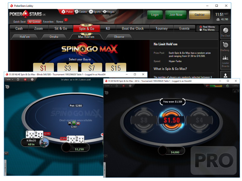 PokerStars has launched a new tournament variant, Spin & Go Max, takes some of the best bits from competitors' products and adds in its own twists.