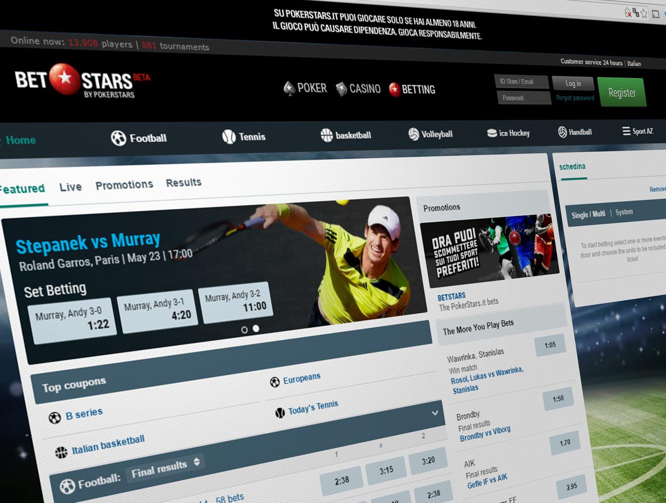 Pokerstars betting sports google binary options demo account