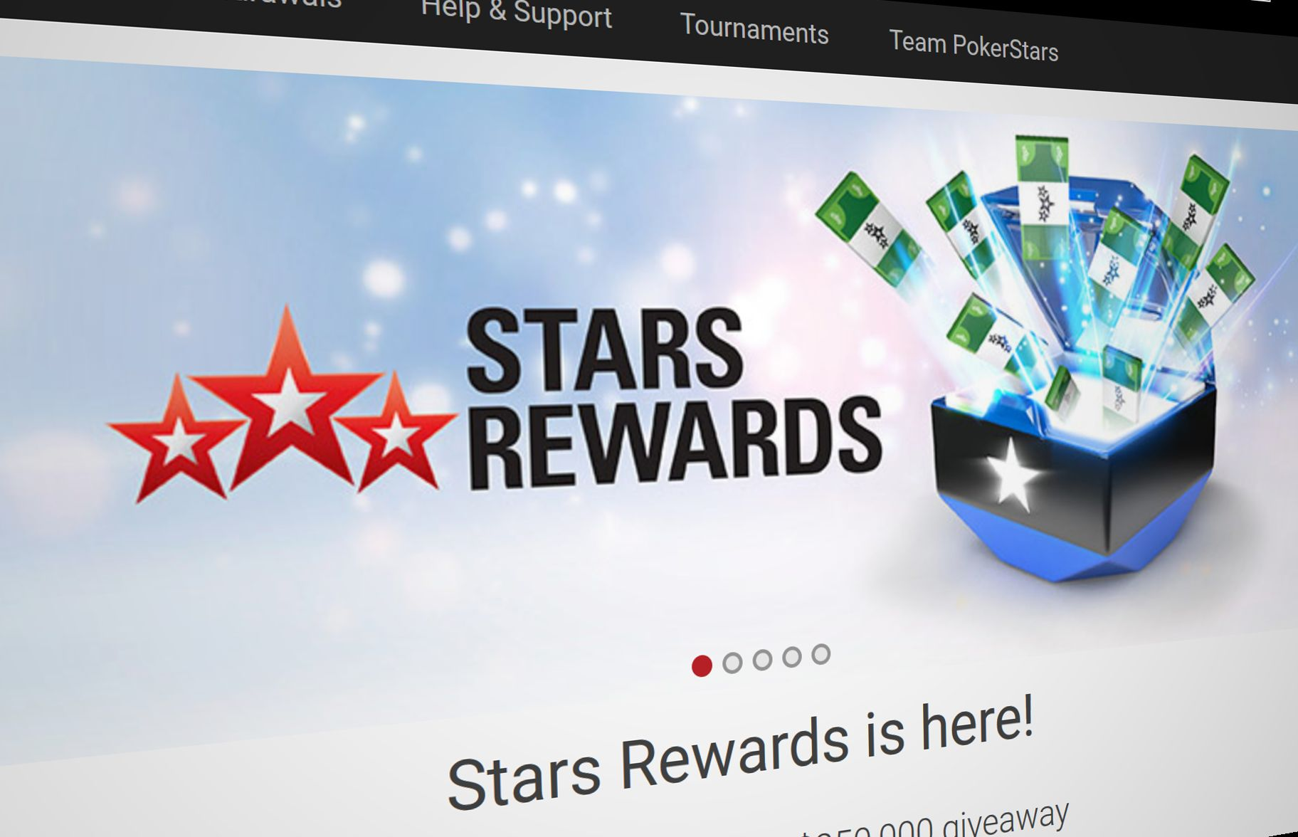 The world's largest online poker room has launched its randomized loyalty program Stars Rewards in the New Jersey market.
