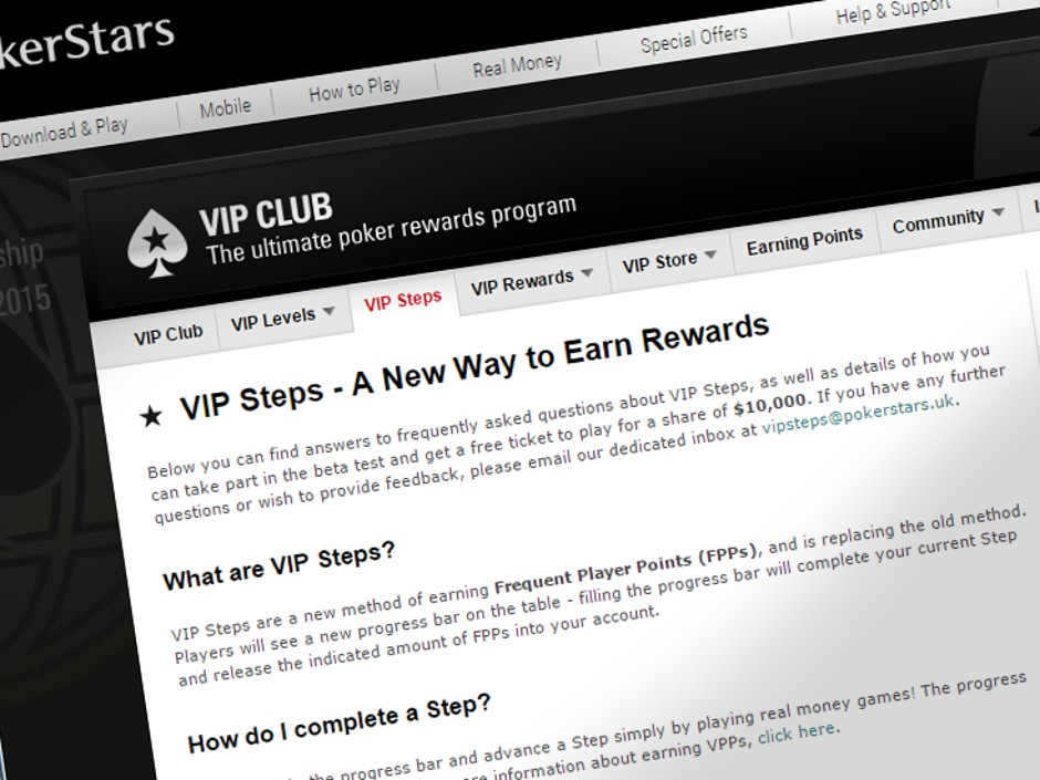 Pokerstars Vip Steps