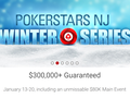 PokerStars has released the schedule for Winter Series in the New Jersey market.