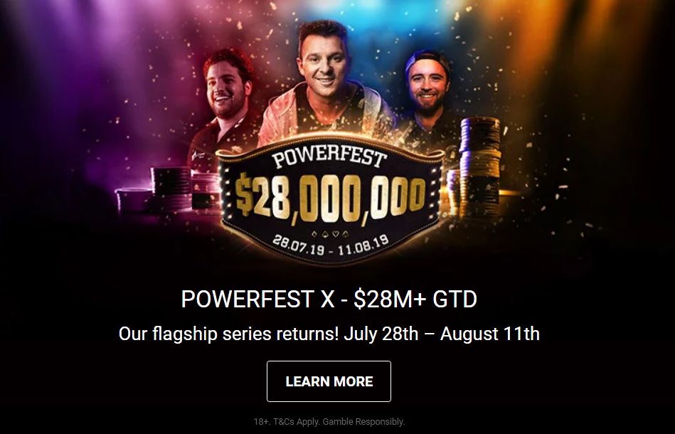 Partypoker's iconic Powerfest series returns to the calendar for the second time this year with $28 million guaranteed.