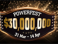 GVC's online poker room, partypoker has confirmed the dates and guarantees for its upcoming online tournament series, Powerfest.