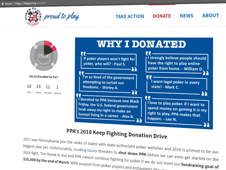 The Poker Players Alliance (PPA), the leading advocacy group for the poker playing community in the United States, is seeking funding to be able to continue…