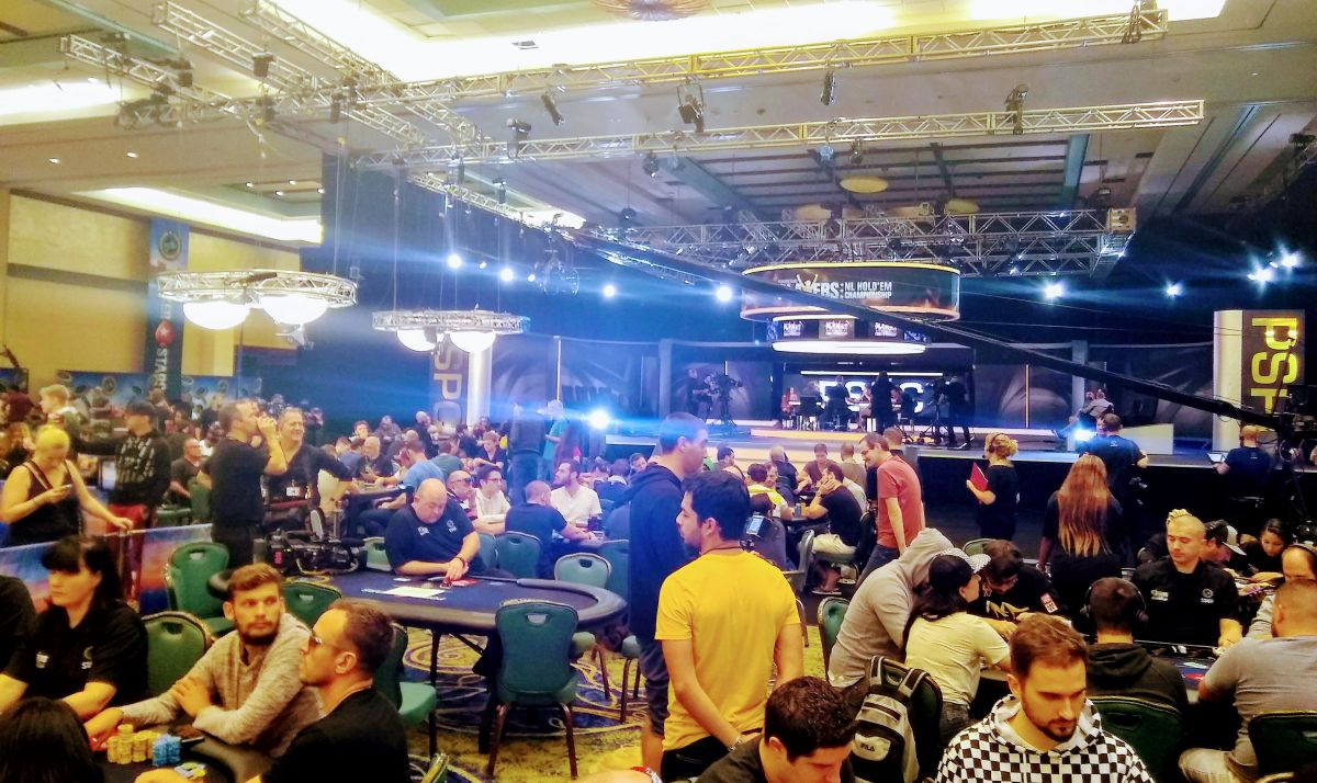 Another day of tense action on the tables. As expected the money bubble came up fast … and then things slowed to a crawl with an agonizing two hour…