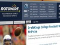 RotoWire has a Daily Fantasy Sports section that has a number of tools that can be valuable as you are preparing your lineups.
