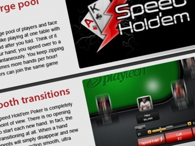 "iPoker to soon launch ""speed hold'em,"" its take on Fast Fold Poker, from July 2012."