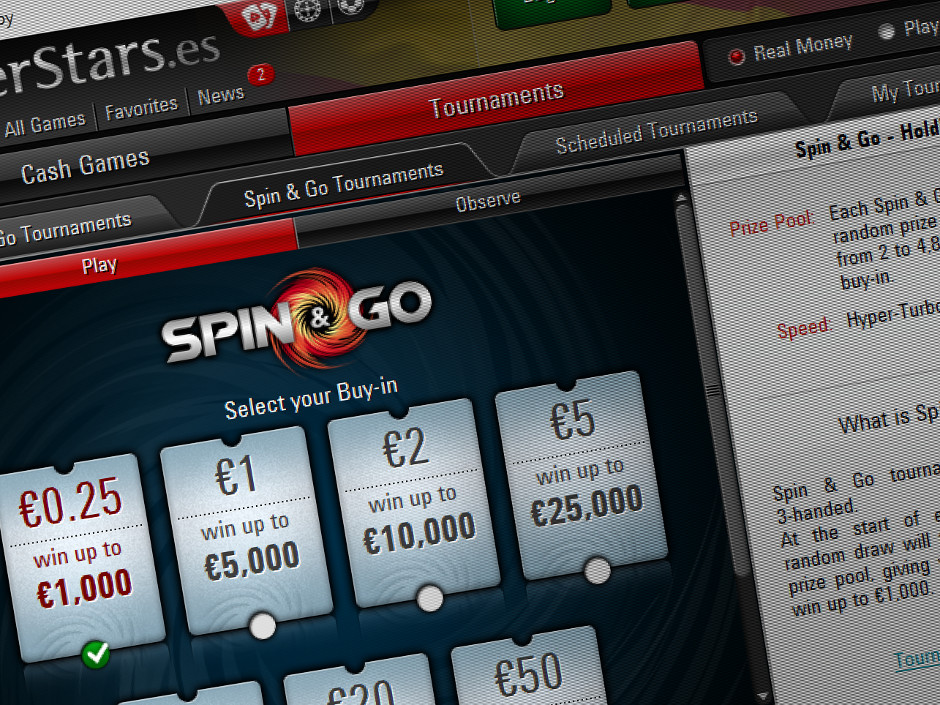 PokerStars has extended its low stakes lottery SNGs spectrum with a promotional Spin & Go that costs just €0.25 to enter.