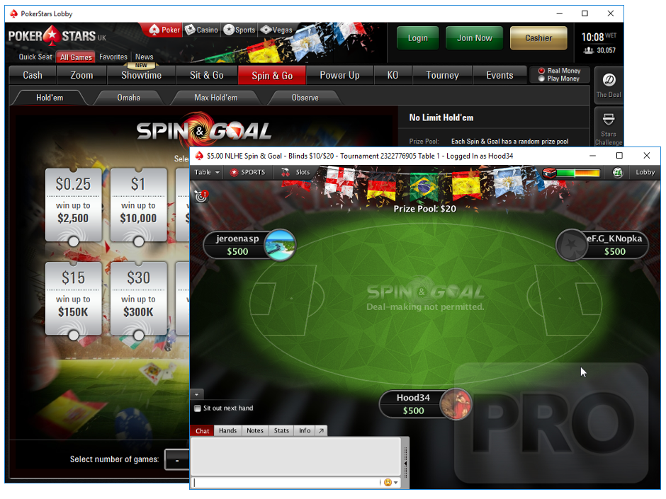 Pokerstars Spin Of The Day