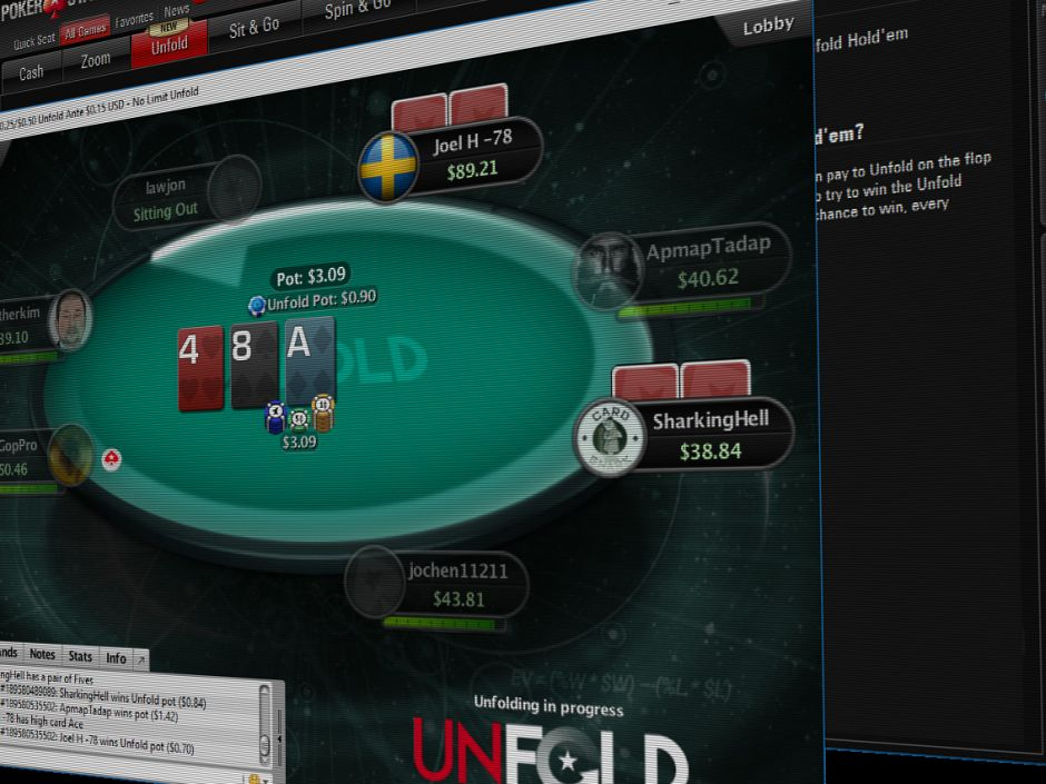 The world's leading online poker site, PokerStars, has made the decision to soon withdraw its latest online poker cash game innovation, Unfold Poker…
