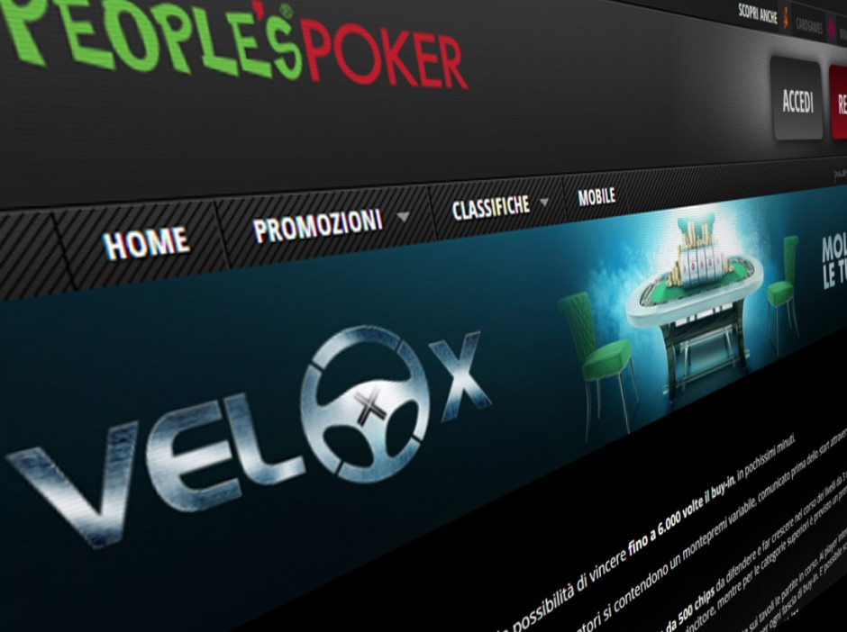 Growing Italian online poker network People's Poker has launched Velox, a lottery sit and go game. The operator has played it safe and introduced a game that will be immediately familiar, with no new innovation to the classic format now popular across the online poker industry.