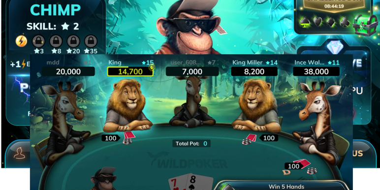 The big-name sponsorship put Wild Poker in the spotlight for the first time. This twist with Wild Poker is that each character in the game has a special power which can be deployed at the table.