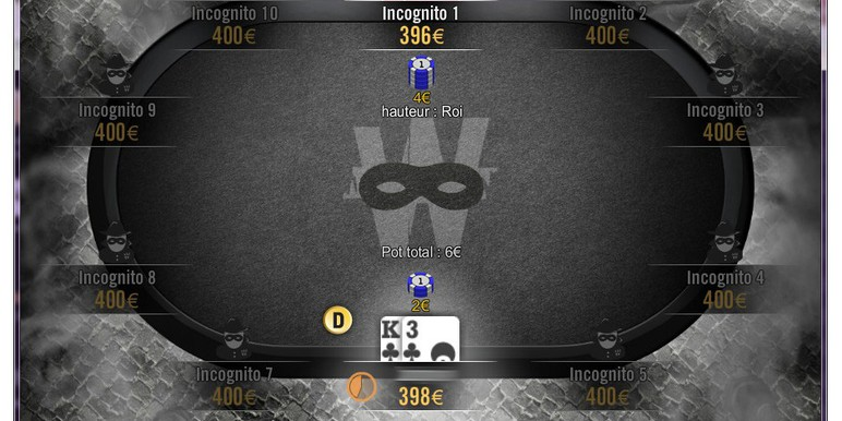 "Winamax--the French online poker market leader--has launched ""incognito tables."" Not all players have embraced the growing trend. Many of the high-volume players {n:i-am-not-number-anonymous-tables-its-no-longer-poker:believe it reduces the skill of the game} by limiting the effectiveness of reads, table selection and seat selection."