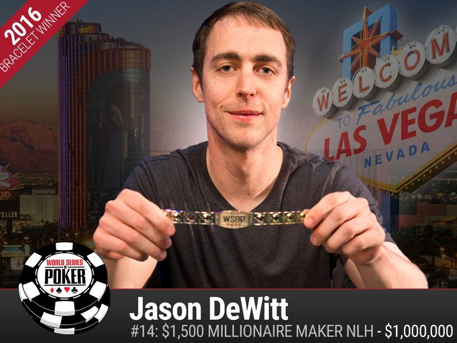 Three more World Series of Poker champions were crowned last night as Events #14, #17 and #18 came to a close: Jason DeWitt, Chase Bianchi and Marco Johnson…