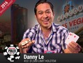 Danny Le from Westminster, California won his first ever WSOP gold bracelet and $188,815 in prize money in Event #22: $1500 Limit Hold'em.