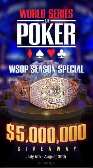 WSOP 2020 promotion on GGPoker