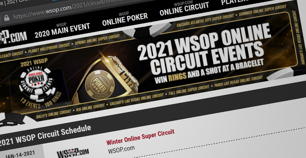 WSOP.com Lines Up Winter Online Championships and Planet Hollywood Circuit Online Series this February