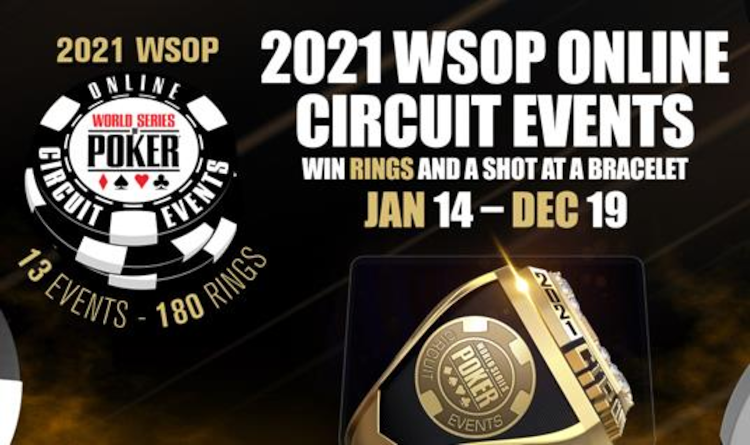 First of 13 2021 WSOP Online Circuit Series Kicks Off Today for New Jersey and Nevada Players