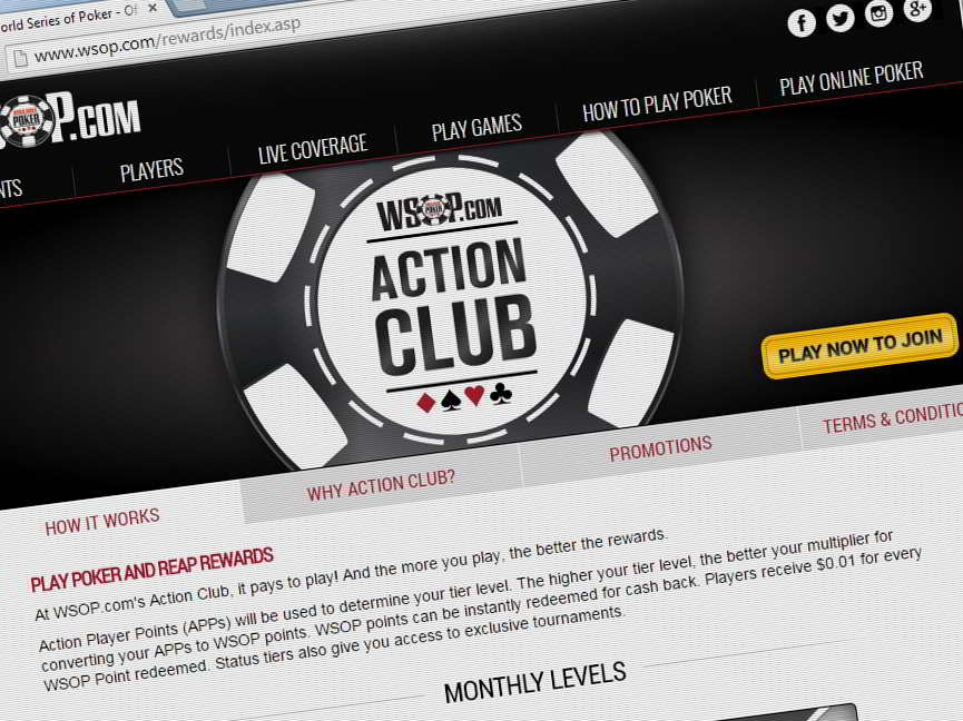 WSOP.com has rolled out changes to its Action Club reward system for online poker players in New Jersey and Nevada.