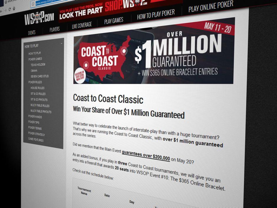 Coast to Coast: WSOP com Reveals Million Dollar Tournament Series to