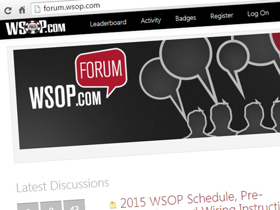 WSOP.com has opened its own online support forum for poker players. The new forum is available at the WSOP.com site, and caters to all WSOP poker players in its Nevada and New Jersey state regulated markets.