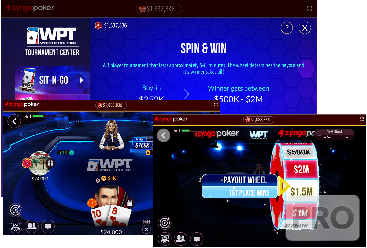 Zynga Launches Lottery Sit and Go Game Spin & Win